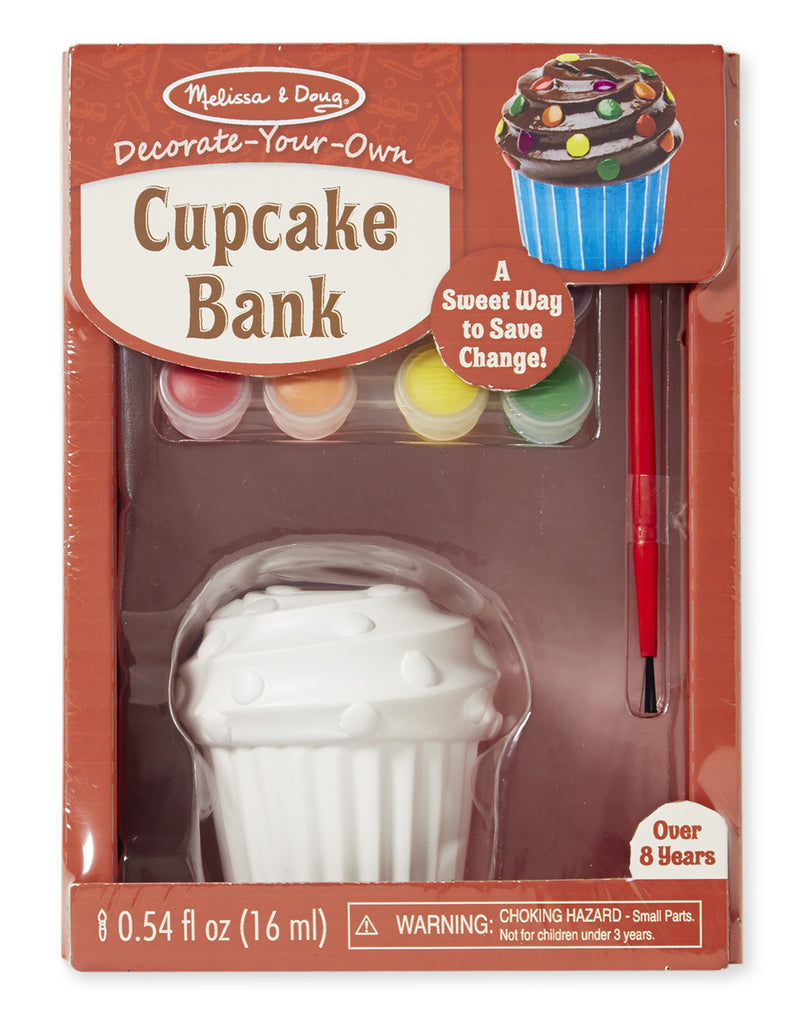 Melissa & Doug 8864 Decorate Your Own Cupcake Bank