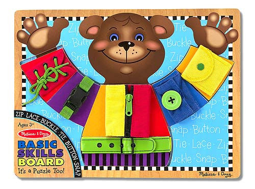 Melissa & Doug 13784 Basic Skills Bear Wooden Board