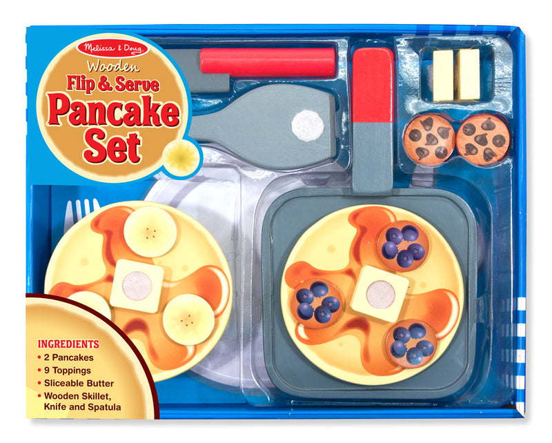Melissa & Doug 9342 Wooden Flip And Serve Pancake Set