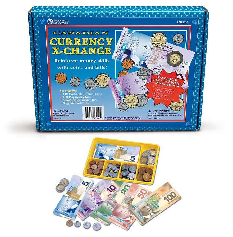 Canadian Currency X-Change Activity Set
