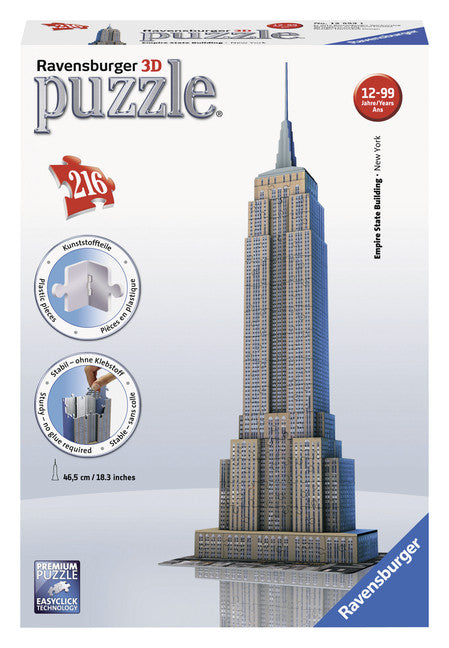 Ravensburger 216 Pieces Puzzle 3D Empire State Building -12553