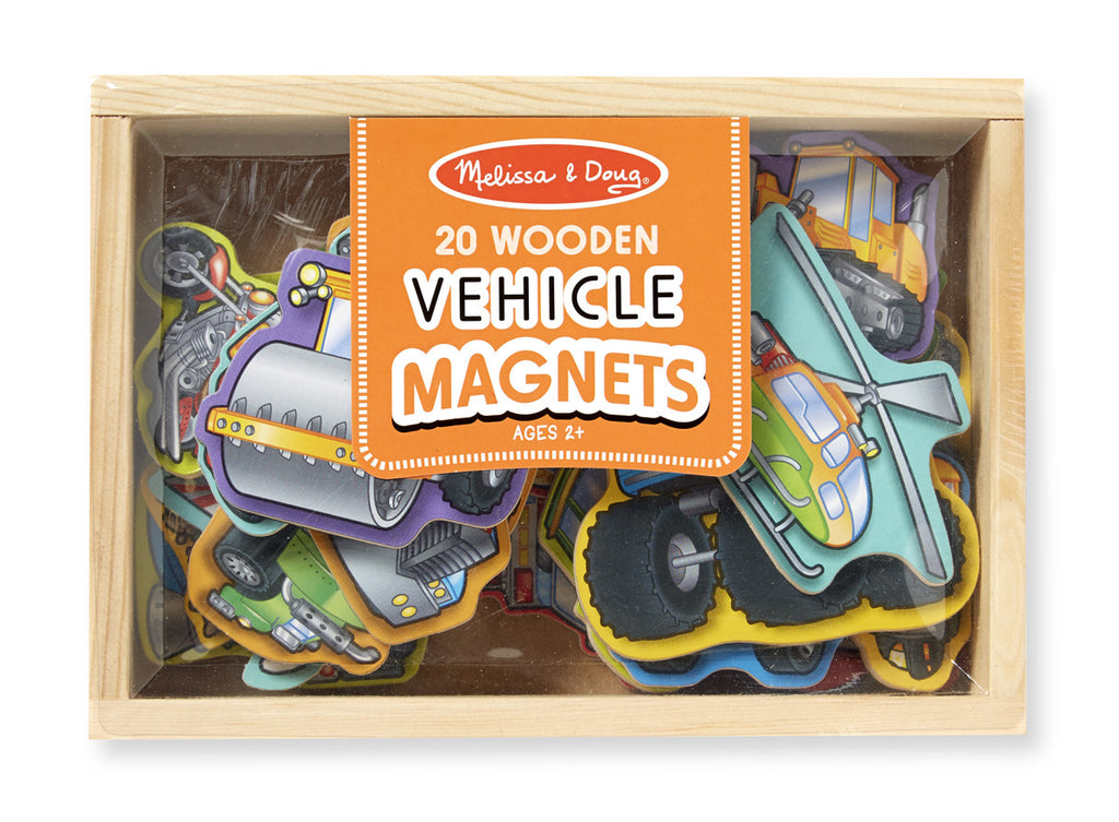 Melissa & Doug 8588 Wooden Vehicle Magnet Set