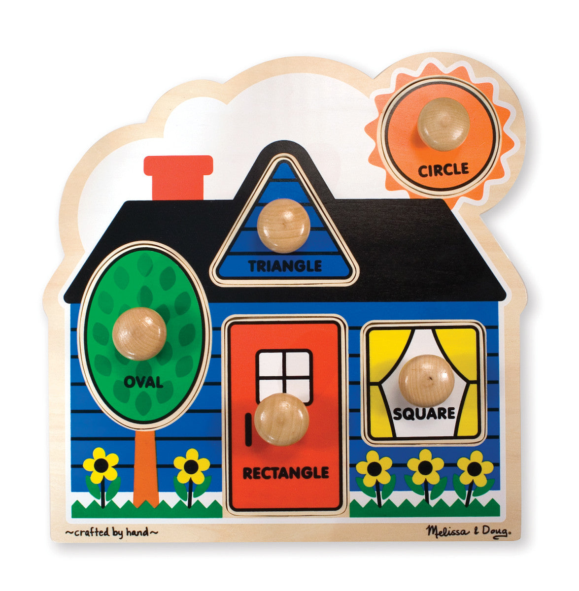 Melissa & Doug 12053 Large Peg Puzzle - First Shapes
