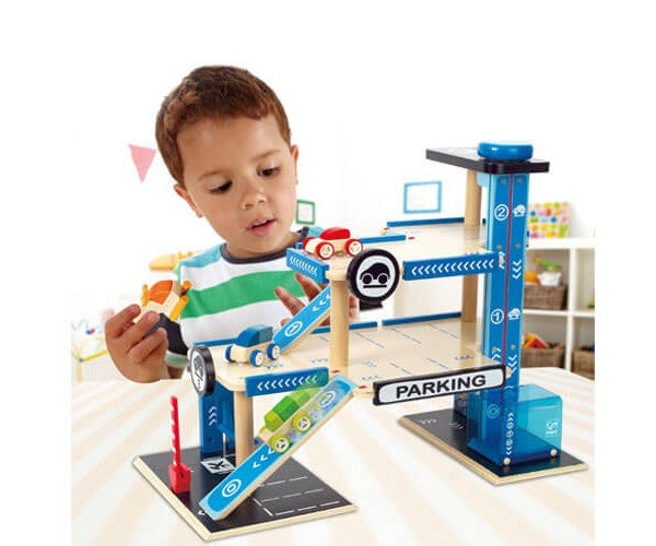 Hape City Parking Garage Wooden Set - E3005