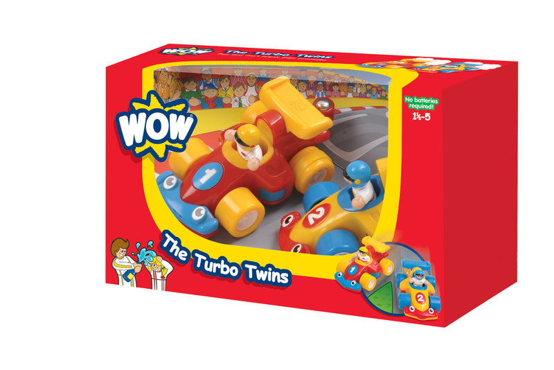 WOW Toys - 06060 | The Turbo Twins - Racing Cars (4 Piece Set)