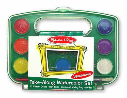 Melissa & Doug 14114 Take Along Water Colour Paint Set