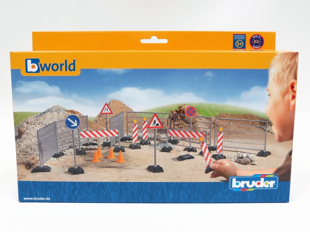 Bruder Construction Set Railings, Site Signs And Pylons - 62007