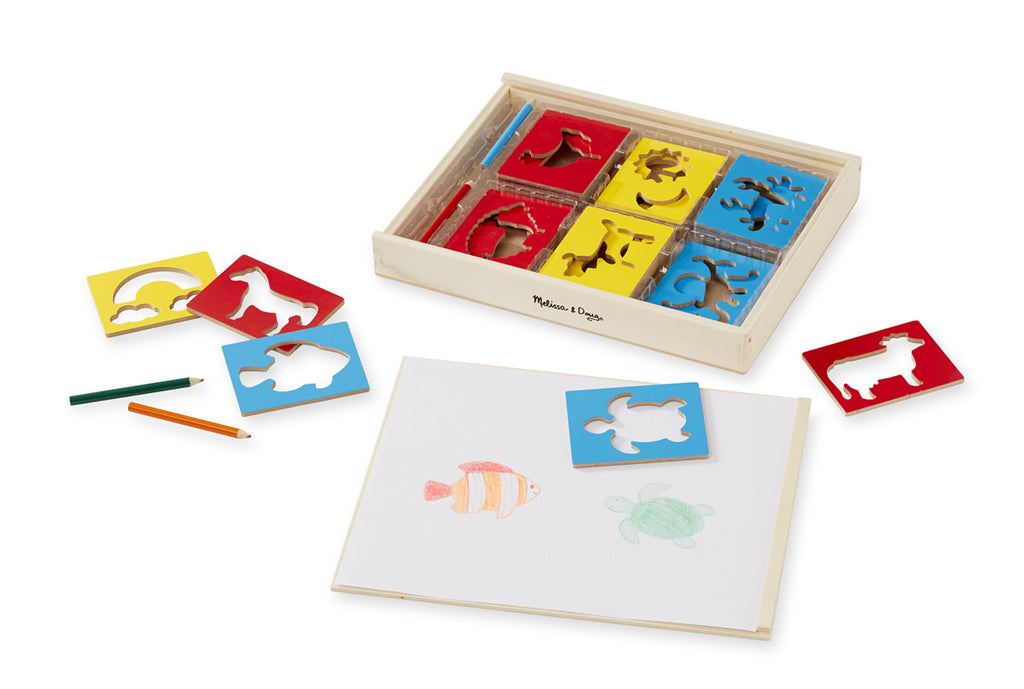 Melissa & Doug 9331 Wooden Stencil Box