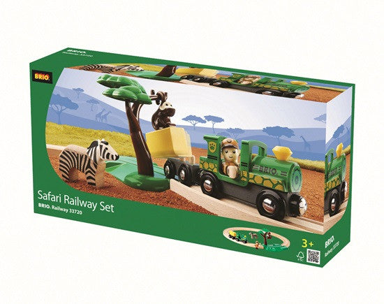 BRIO - 33720 | Safari Railway Train Set