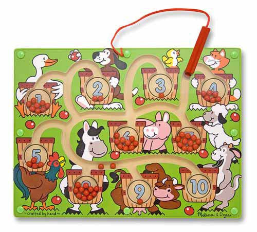 Melissa & Doug 12280 Magnetic Number Maze Wooden Puzzle