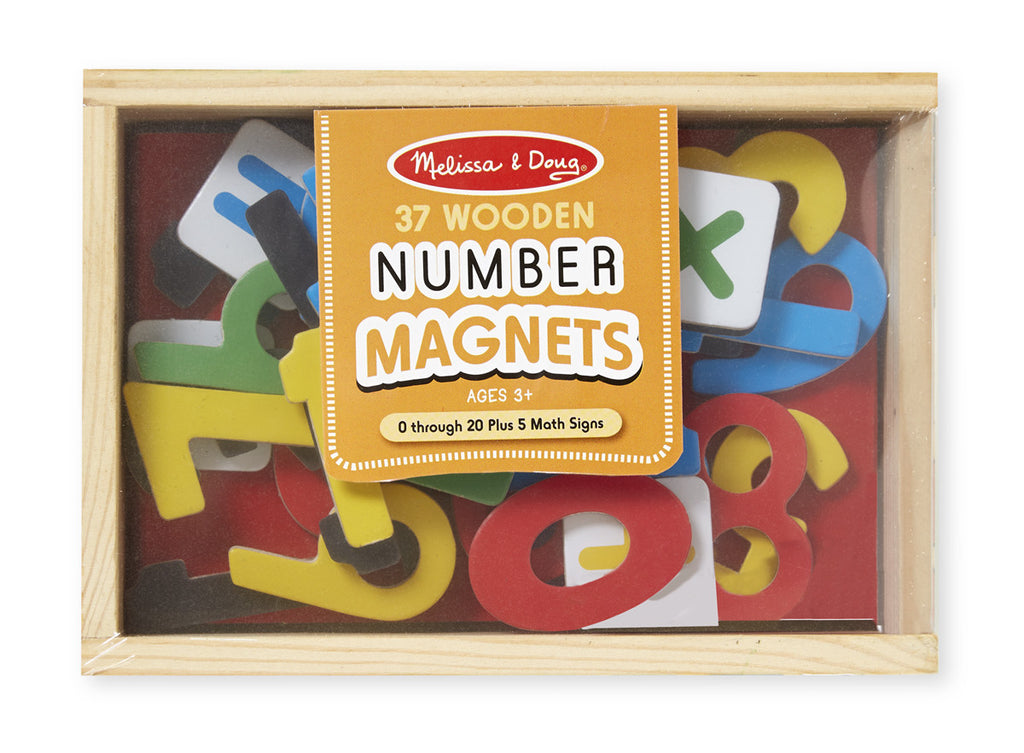 Melissa & Doug 10449 Magnetic Wooden Numbers 37 Pieces