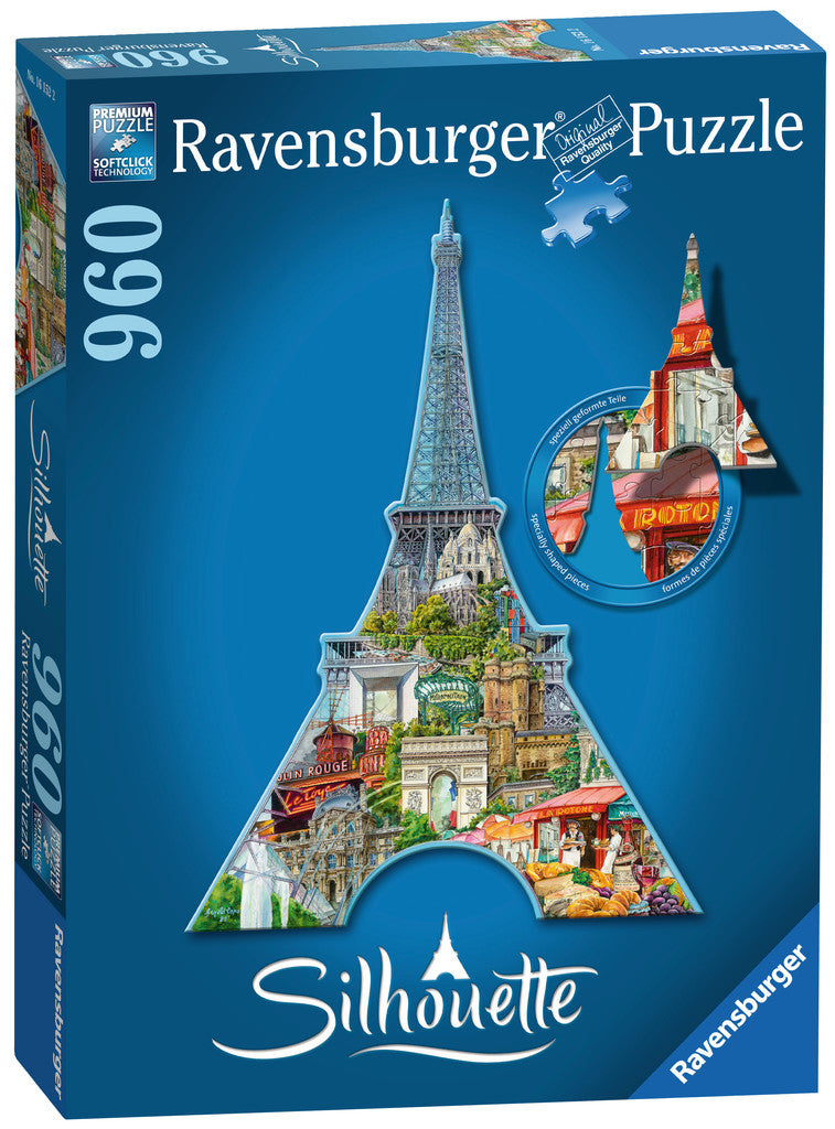 Ravensburger 960 Pieces Puzzle Shape Eiffel Tower - 16152