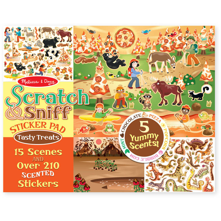 Melissa & Doug 2199 Scratch And Sniff Treats Sticker Pad