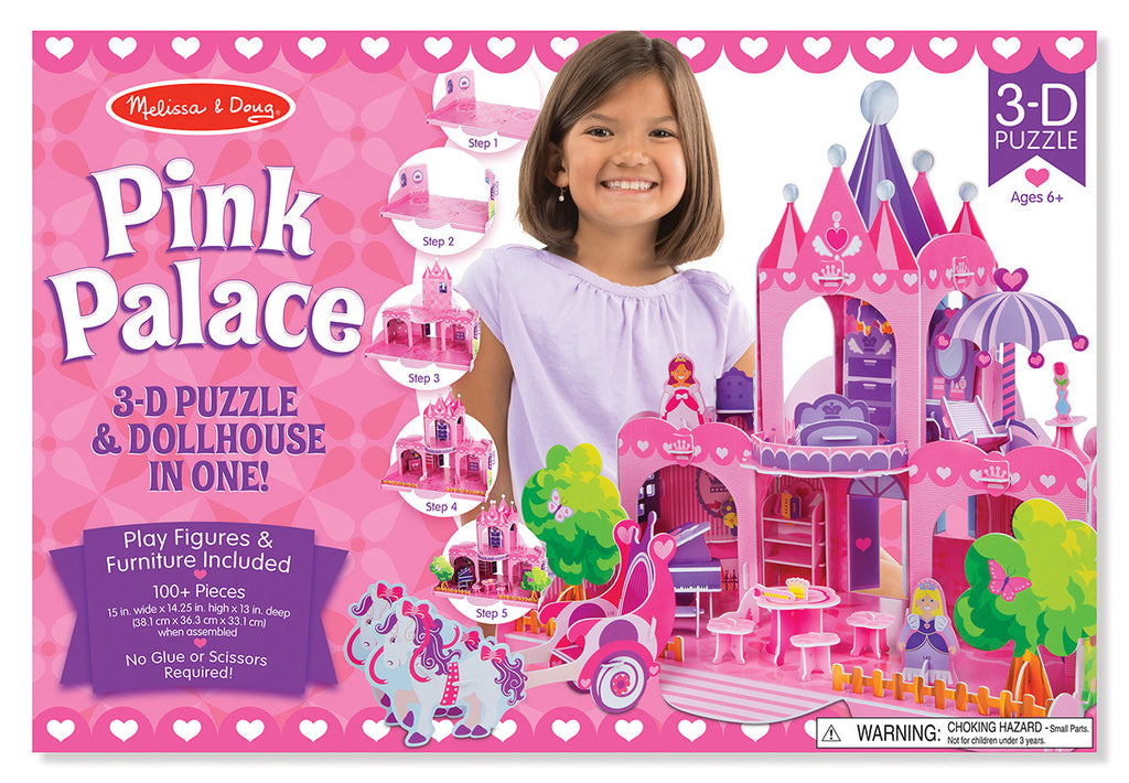 Melissa & Doug 9462 Pink Palace 3D Dollhouse Craft