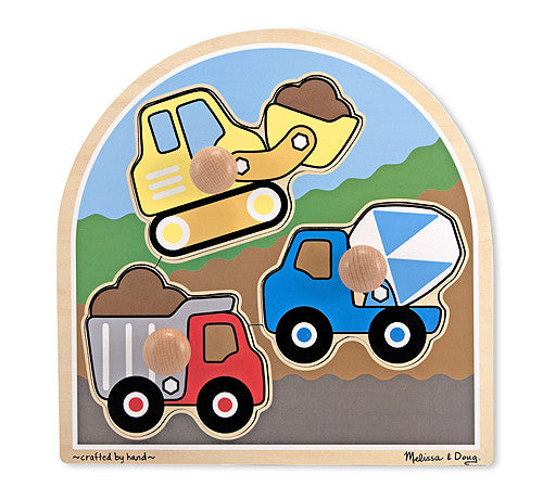 Melissa & Doug 13395 Large Peg Puzzle - Construction Site