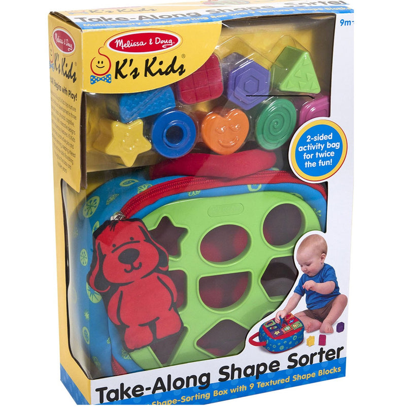 Melissa & Doug 9185 Take-a-Long Shape Sorter Plush Bag