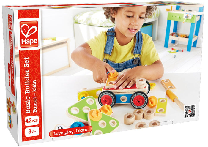 Hape - E3080 | Wooden Basic Builder Set 42 Pieces