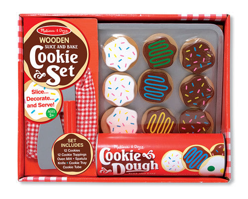 Melissa & Doug 14074 Wooden Slice And Bake Cookie Play Set
