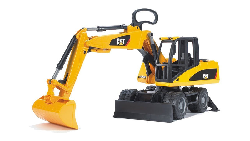 Bruder Caterpillar Small Wheel Excavator, Yellow - 02446