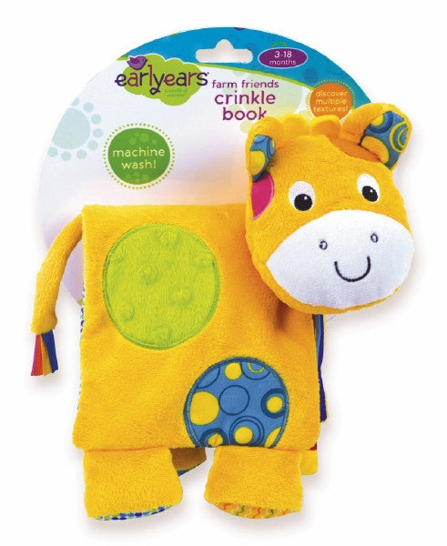 Earlyears Farm Friend Plush Crinkle Book