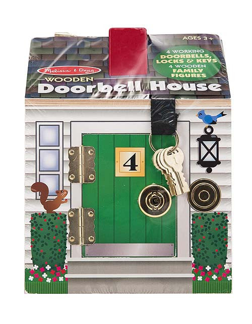 Melissa & Doug 12505 Doorbell House Wooden Set And Family