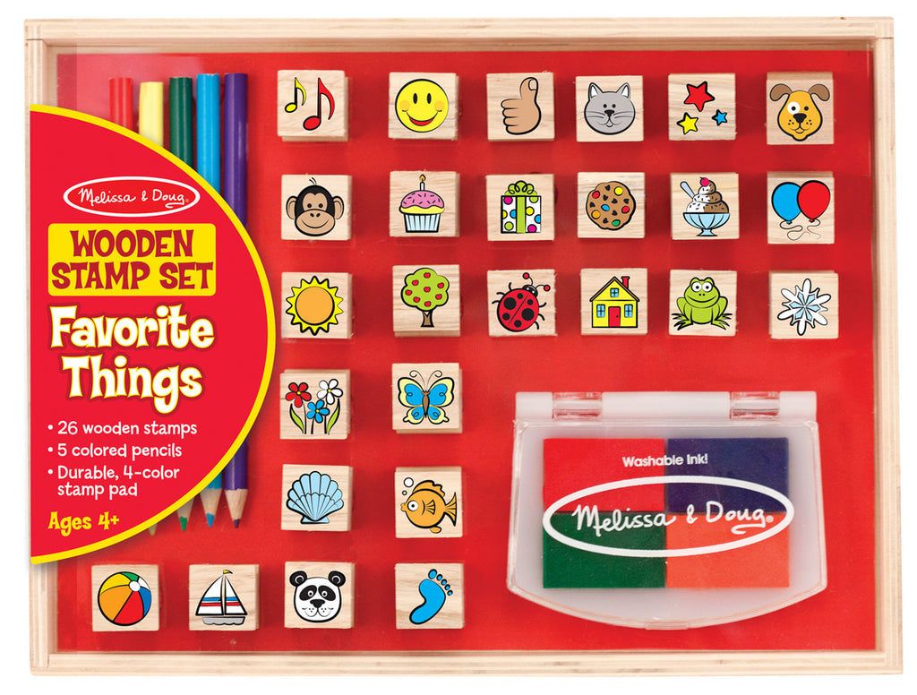 Melissa & Doug 19362 Favourite Things Wooden Stamp Set