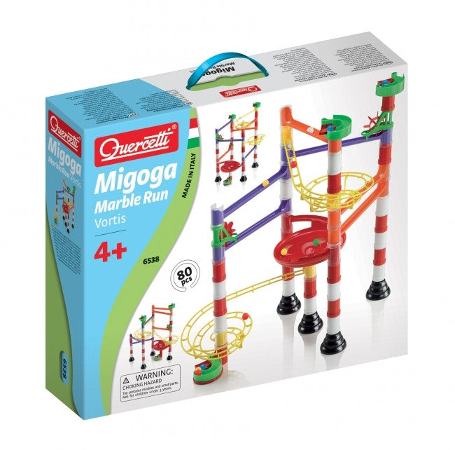 Quercetti Migoga Marble Run Vortex 80 Pieces