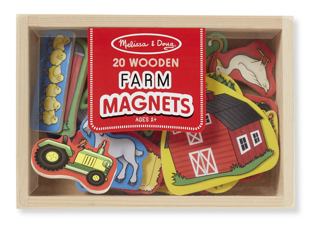 Melissa & Doug 19279 Wooden Farm Magnets Set
