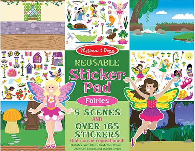 Melissa & Doug 18603 Reusable Sticker Pad - Fairies Jum