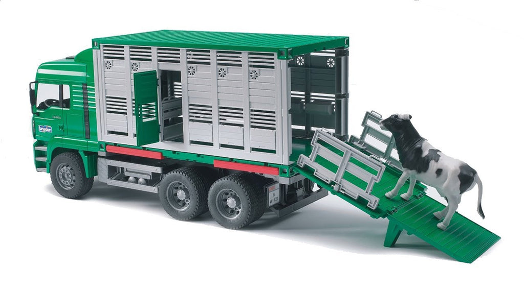 Bruder MAN TGA Cattle Transportation Truck With 1 Cow - 02749