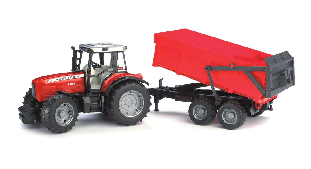 Bruder - 02045 | Agriculture: Massey Ferguson 7480 With Tipping Trailer