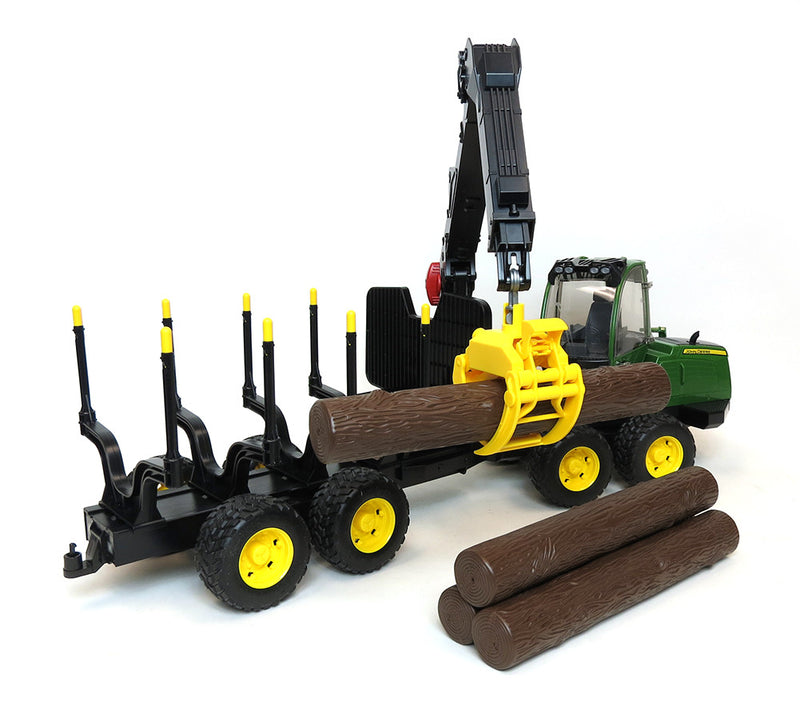 Bruder - 09805 | Forestry: John Deere 1210E Forwarder With 4 Tree Trunks And Grabber