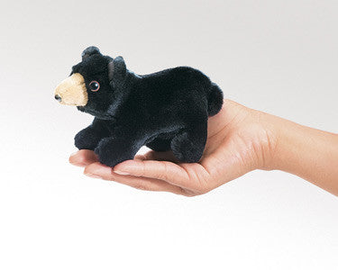 Folkmanis Puppets Mini Black Bear Finger Puppet - 2641