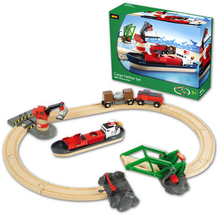BRIO - 33061 | Cargo Harbour Train Set