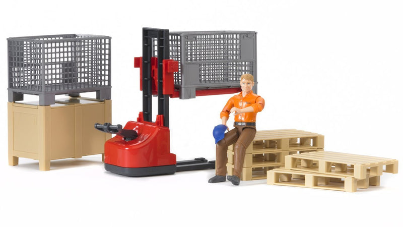 Bruder Bworld Logistics Set With Man - 62200