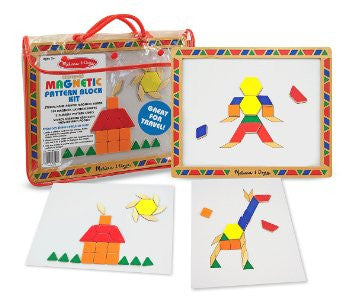 Melissa & Doug 13590 Magnetic Pattern Block Kit