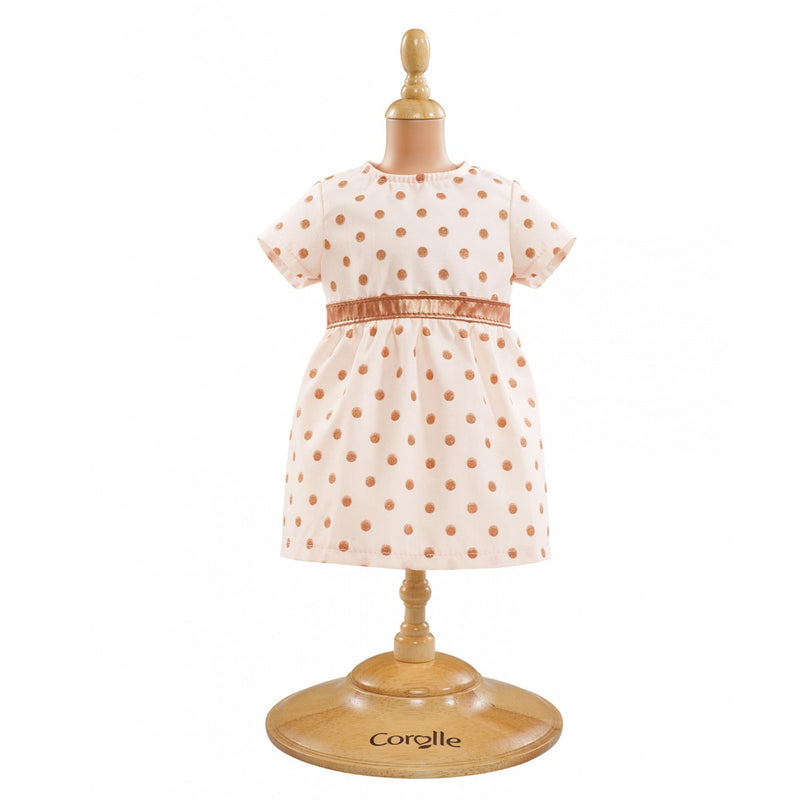 Corolle DMV07 BB 14-Inches Doll Pink/Gold Dotted Dress