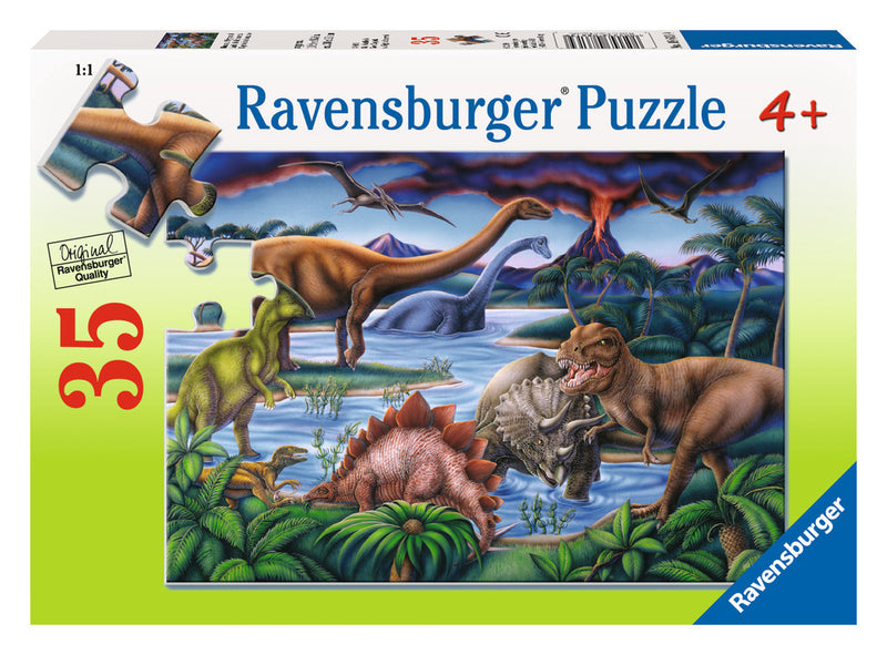 Ravensburger 35 Pieces Puzzle Dinosaur Playground - 08613