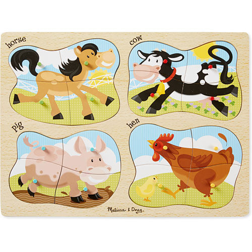 Melissa & Doug 9858 4-In-1 Farm Peg Puzzle