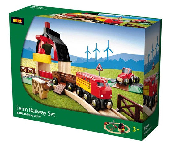 BRIO - 33719 | Farm Railway Train Set
