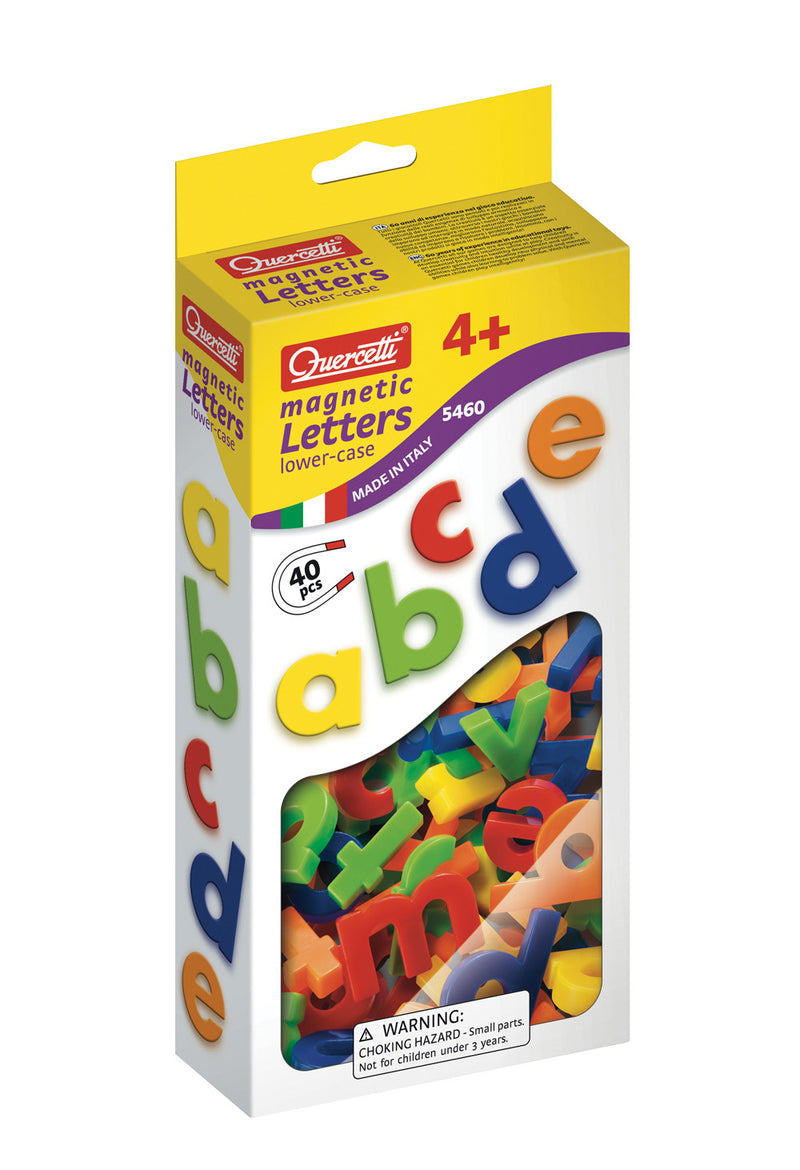 Quercetti - 54604 | Magnetic Lowercase Letters (40 Pieces)
