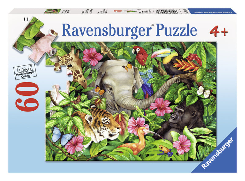 Ravensburger 60 Pieces Puzzle Tropical Friends - 09533