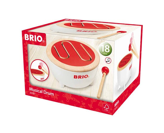 BRIO - 30181 | Wooden Musical Drum