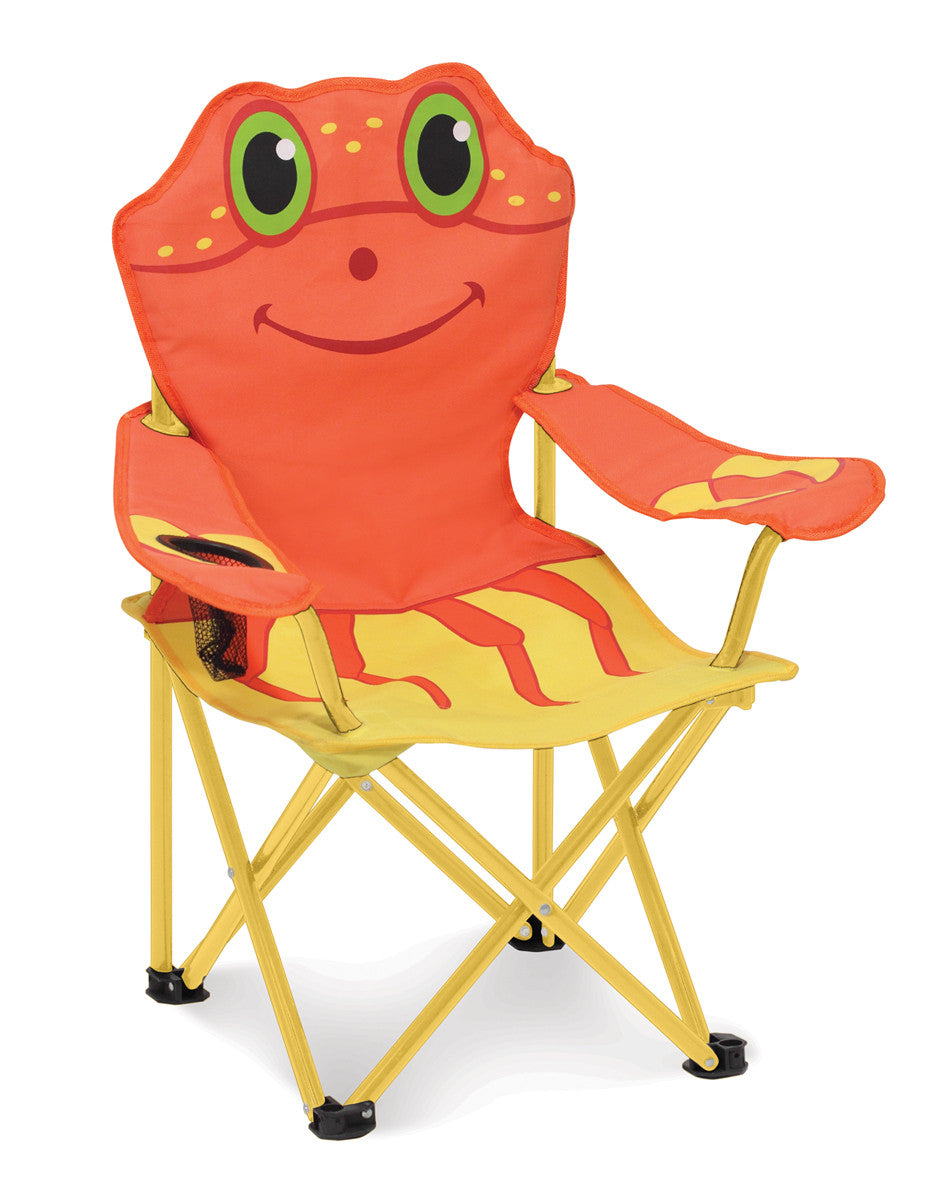 Melissa & Doug 16417 Clicker Crab Folding Chair - Orange