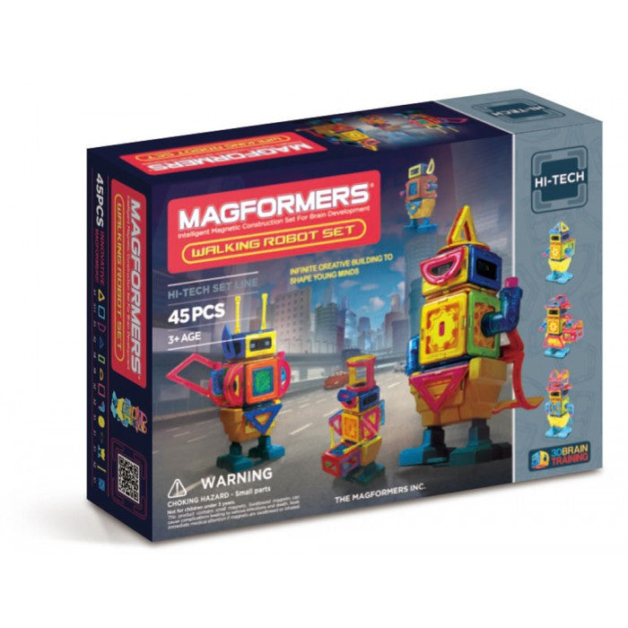 Magformers 45 Pieces Walking Robot Set