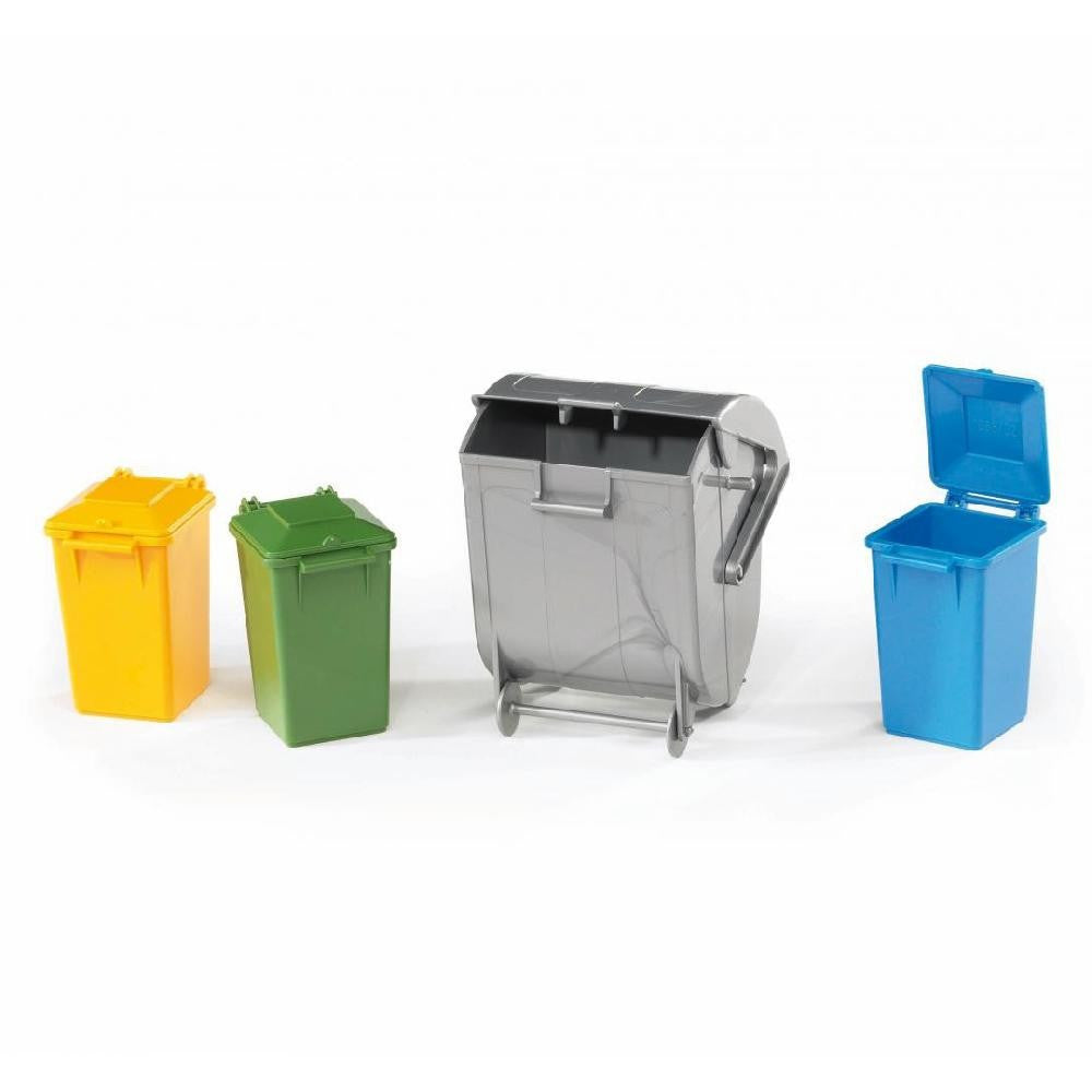Bruder Garbage Cans Accessory Set (3 Small 1 Large) - 02607