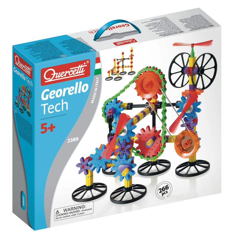 Quercetti Georello 3D Gear Tech 266 Pieces