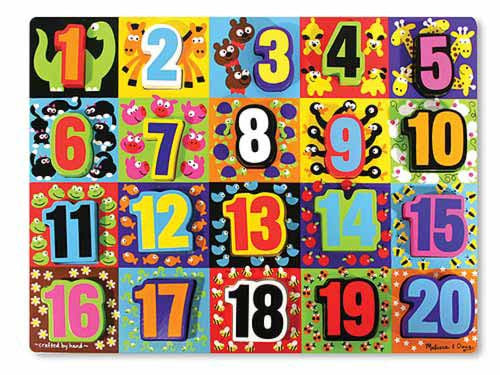 Melissa & Doug Chunky Puzzle - Numbers