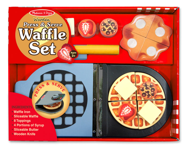Melissa & Doug 9346 Wooden Press And Serve Waffle Set