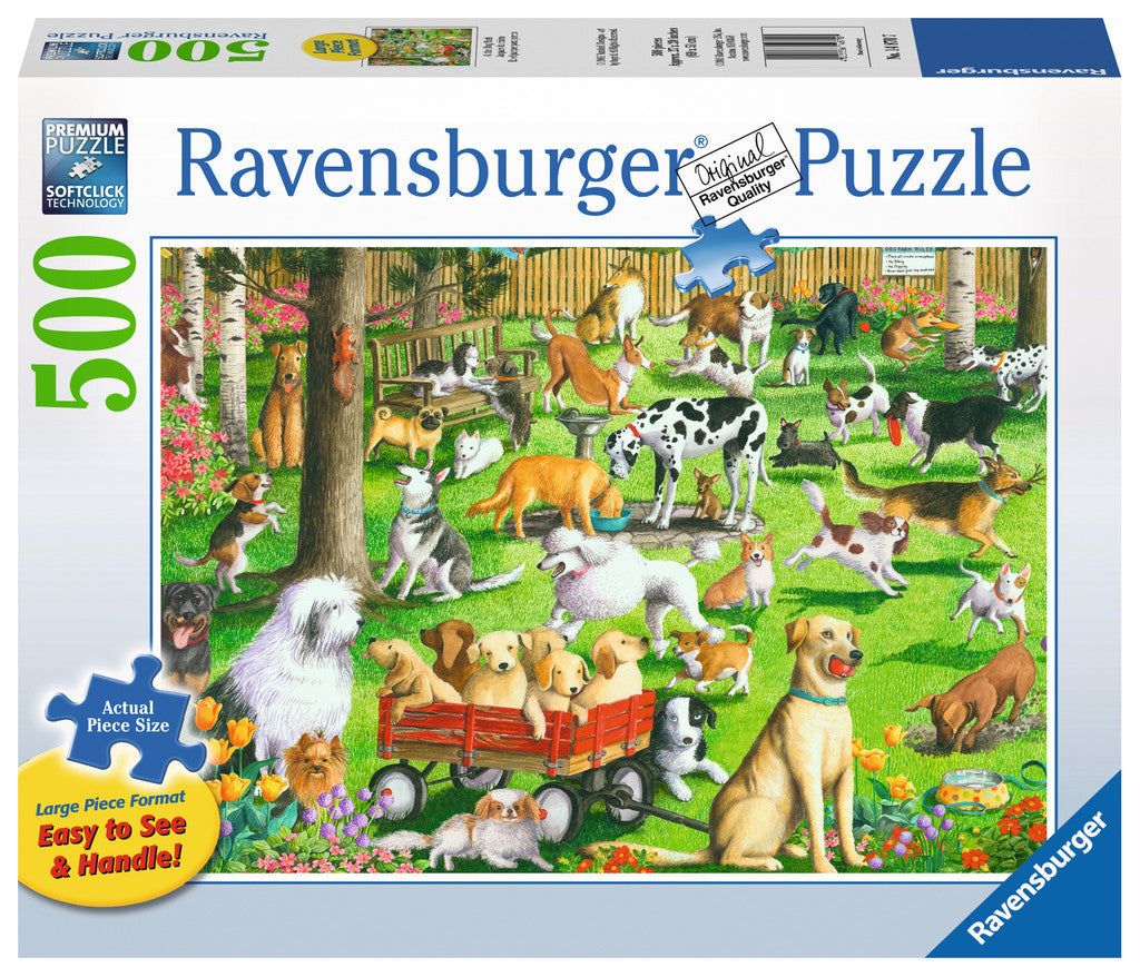 Ravensburger 500 Pieces Puzzle LG At The Dog Park - 14870